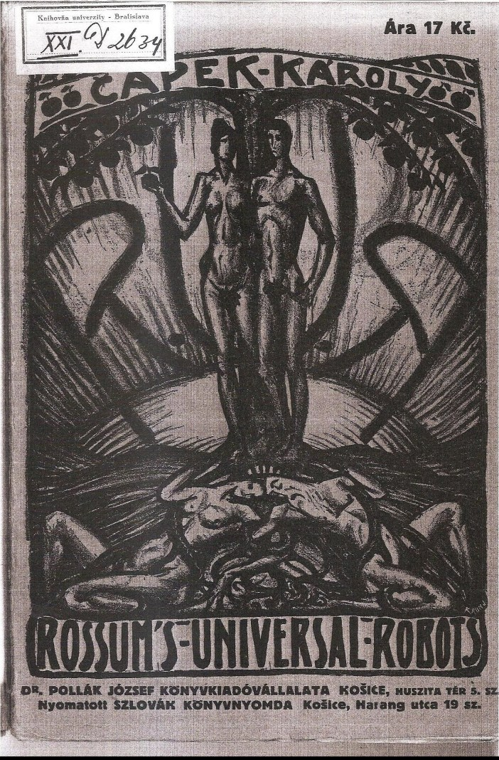 Cover of Josef Polák's Hungarian translation of Karel Čapek's R. U. R.