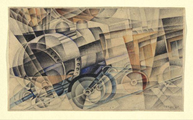 Erika Giovanna Klien, The Train, 1925, Yale University Art Gallery