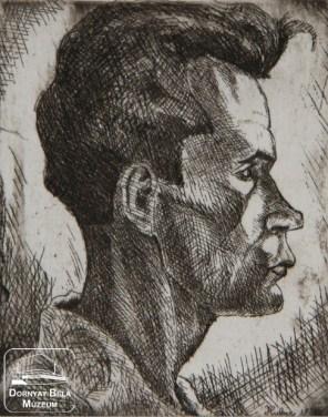 István Dési Huber, Self Portrait