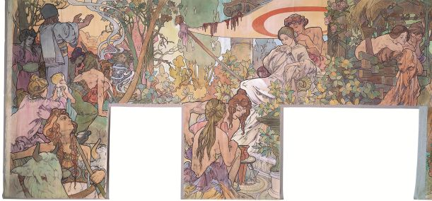 Alfons Mucha: Roman Times and the Arrival of the Slavs, 1900