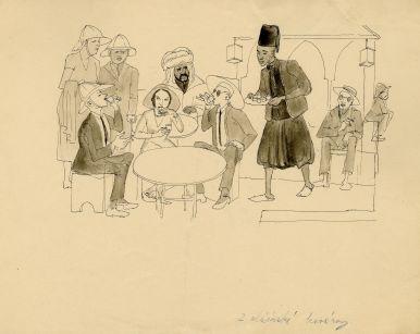 Milada Marešová: In an Algerian café (Colonial exhibition), 1931