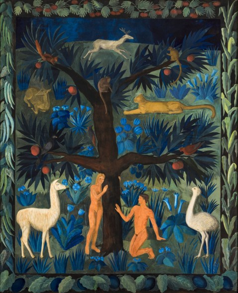 Adam and Eve, tapestry design by Noémi Ferenczy