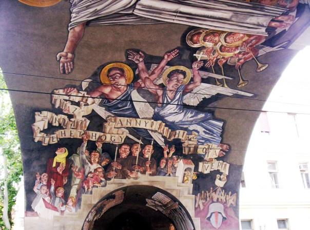 Vilmos Aba-Novák, Gate of Heroes, Allegory of Faith