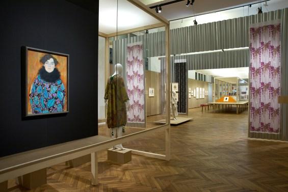 Gustav Klimt's portrait of Johanna Staude at the Women Artists of the Viennese Workshops exhibition