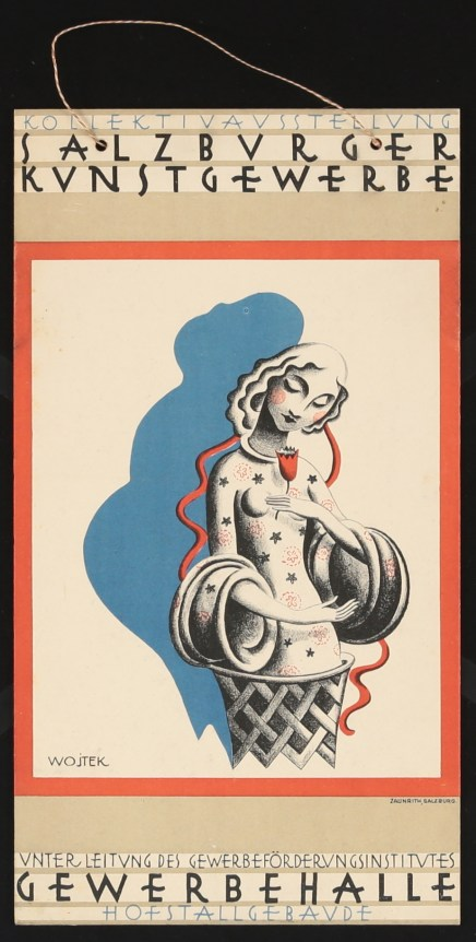 Poldi Wojtek: Poster fort the collective exhibition of applied arts in Salzburg, 1920s