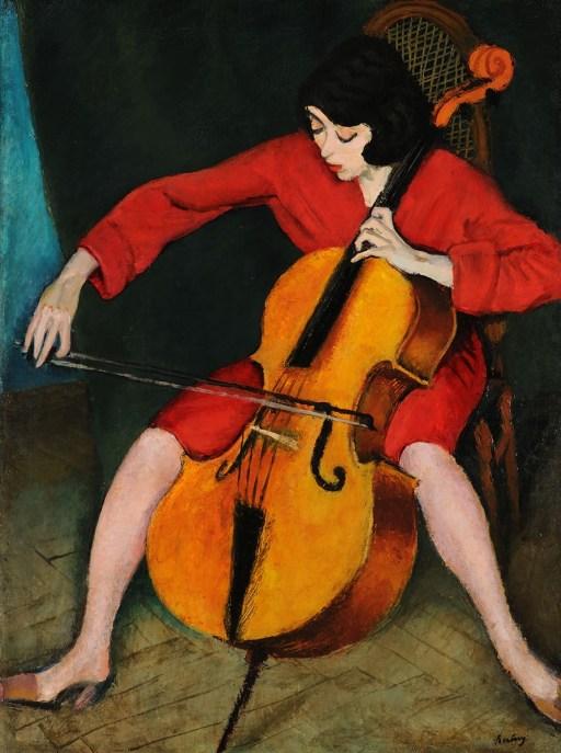 The Cellist by Róbert Berény, 1928