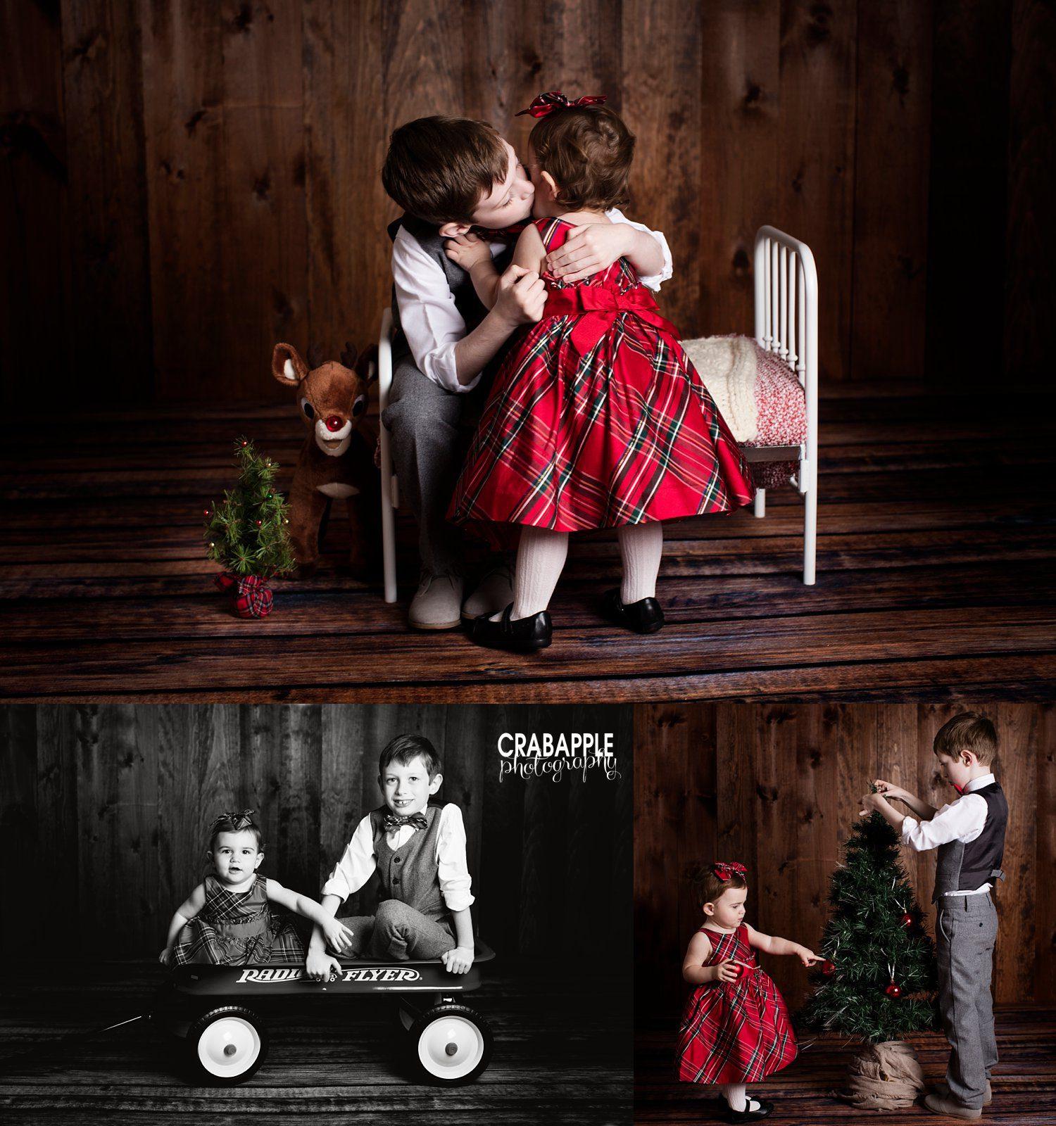Creative Christmas Portraits Boston Crabapple Photography