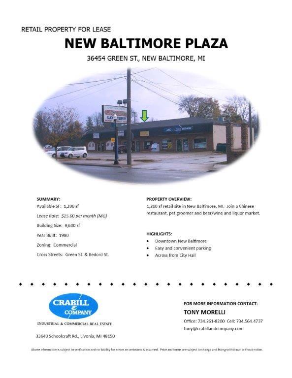 36454 Green St - New Baltimore Plaza