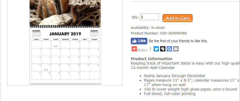 2019 wall calendar featuring 2018 contest winners