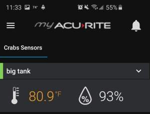 Screenshot of the My Acurite Digital Monitor App