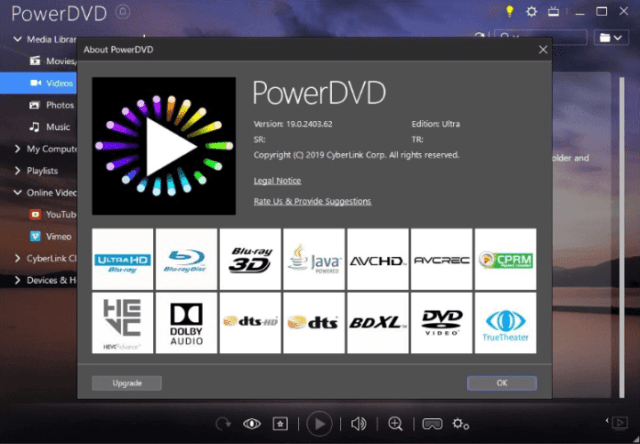 CyberLink PowerDVD Ultra 20.0.2212.62 Crack With Patch Download