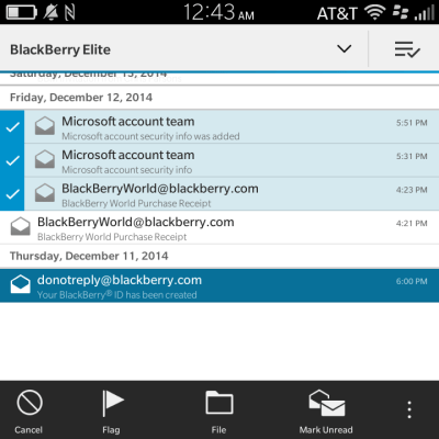 BlackBerry Classic Multi-Select