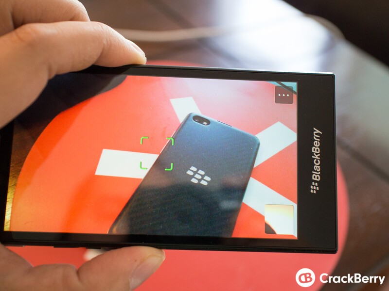 BlackBerry Z3 taking a photo