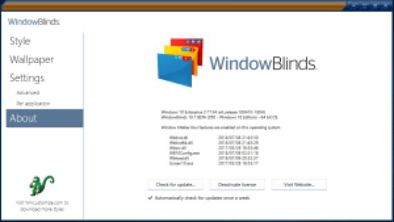 WindowBlinds 10.84 Crack Full Version Download Latest
