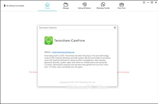 Tenorshare iCareFone 6.0.6 keygen