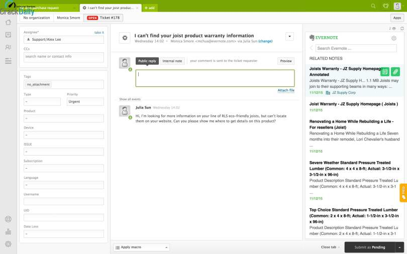 Evernote Screenshot 1