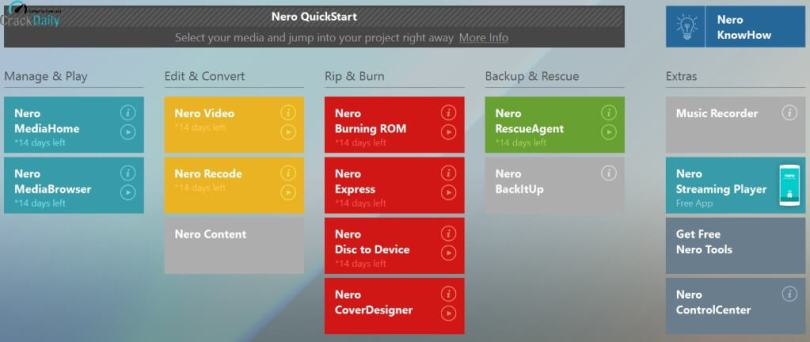 Nero Platinum 2020 Activation Key Screenshot