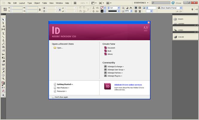 Adobe InDesign CC Screenshot