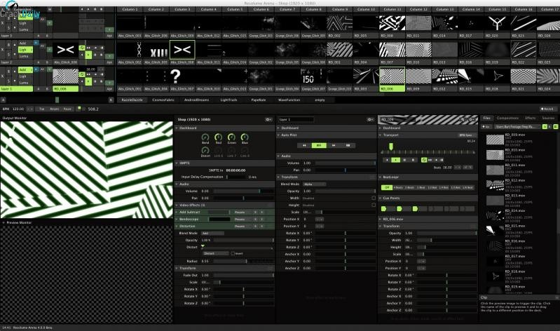 Resolume Arena Screenshot