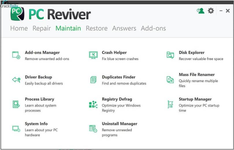 ReviverSoft PC Reviver Screenhot