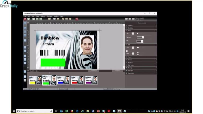 Zebra CardStudio Professional Screenshot