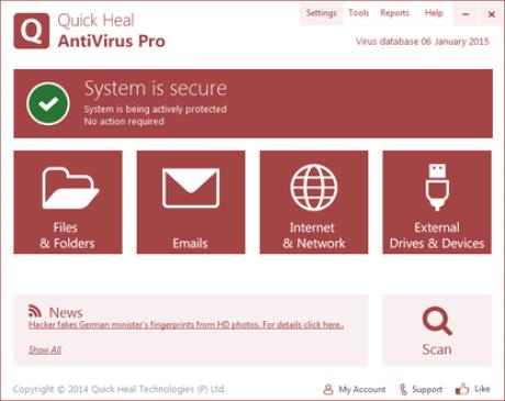 Quick Heal Antivirus Pro 19.00 Crack + Serial Key 2021 Full Download