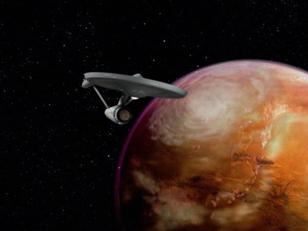 Star Trek cracked rear viewer