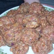 hand made meatballs
