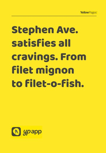 Cravings at for Yellow Pages