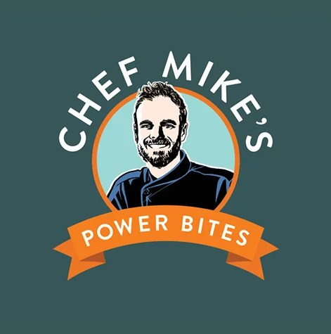 Chef Mike Power Bites branding