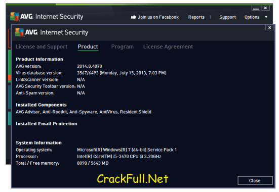 AVG Internet Security 2018 Serial Number