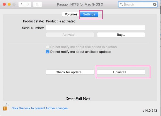 Paragon NTFS for Mac 15 Serial Number