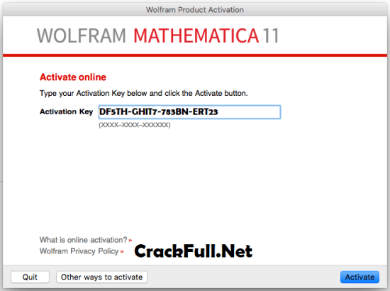 Wolfram Mathematica 11 Activation Key