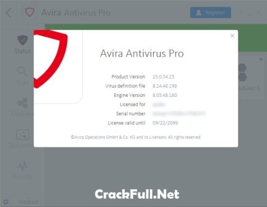 Avira Antivirus Pro 2018 License Key Till 2099