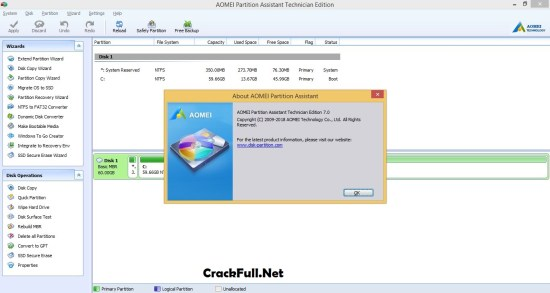 AOMEI Partition Assistant Professional Crack