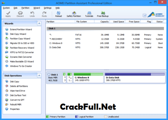 AOMEI Partition Assistant Professional Free Download