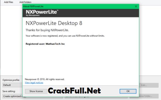 NXPowerLite Desktop 8 Crack