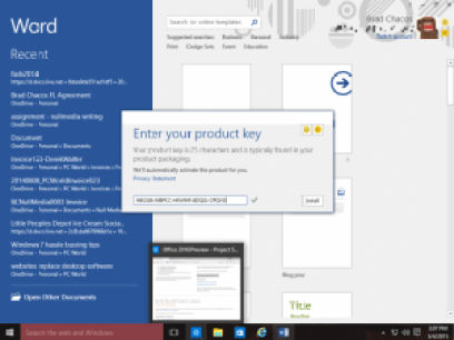 Microsoft Office 2016 Crack + Activation Key