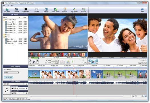 VideoPad Video Editor 5.11 Registration Code + Crack Free Download