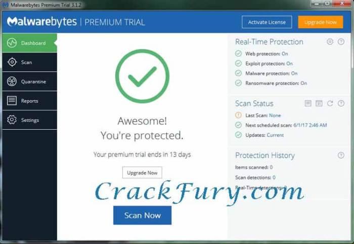 Malwarebytes Anti-Malware 4 Cracked License Key