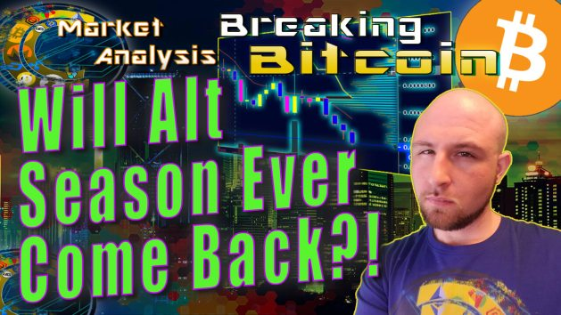 Text will alt season ever come back next to justins smug not sure face with graphic background and bitcoin logo