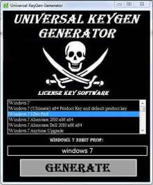 Universal Keygen Generator
