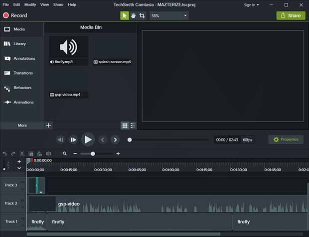 Camtasia Studio 2018.0.7 Build 4045 Crack With Serial Key