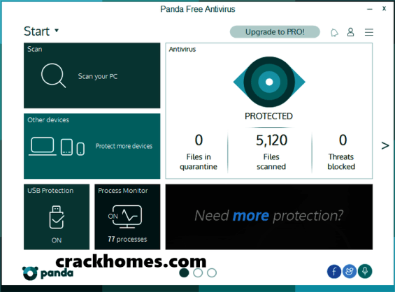 Panda Free Antivirus 18.05.0 Crack Free Download for Win + Mac
