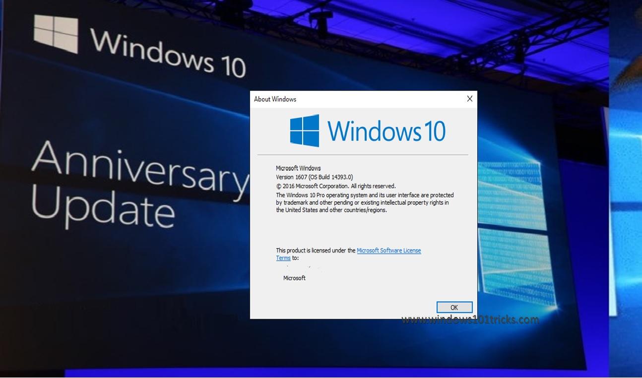 windows 10 anniversary update version 1607 download