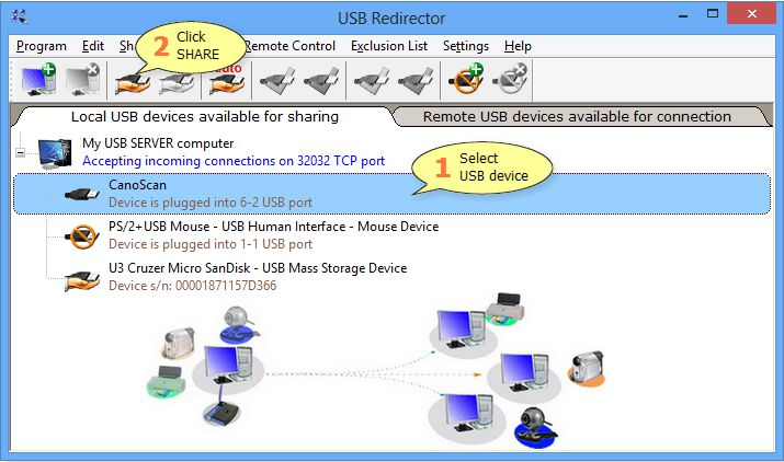 USB Redirector 6.7.0.2760