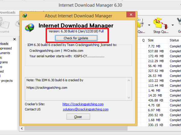 internet download manager free no serial number