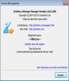 zentimo xstorage manager license key