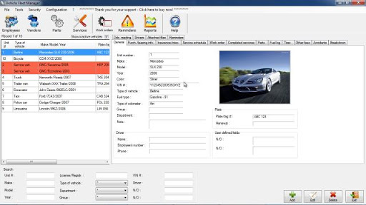 Vehicle Fleet Manager free download
