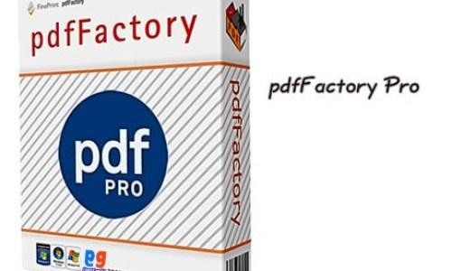 pdfFactory Pro v7.27 incl Serial key